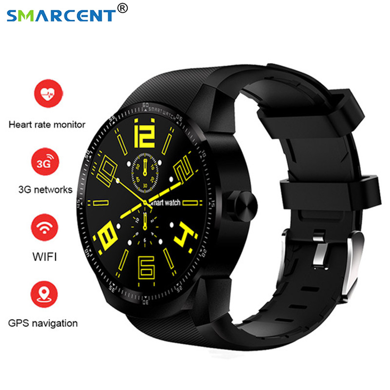 SMARCENT K98H Smart Watch Android 4.4 OS 1.3 IPS Screen 3G SIM WiFi Smartwatch MT6572A Dual core GPS Fitness Tracker Wristwatch цена