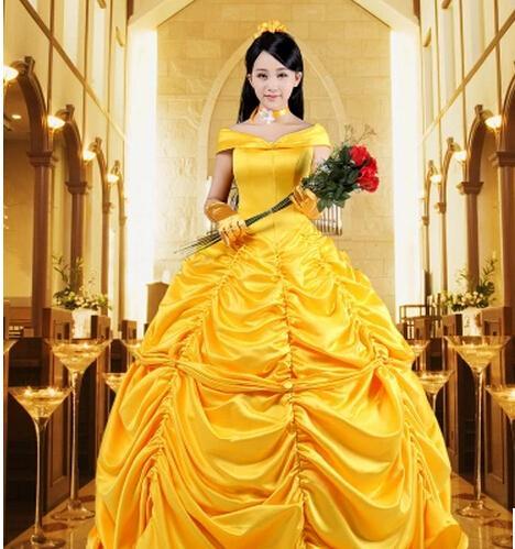 0484836cc Plus size 4XL!! a Bela ea Fera Belle princesa cosplay conto de fadas  fantasia