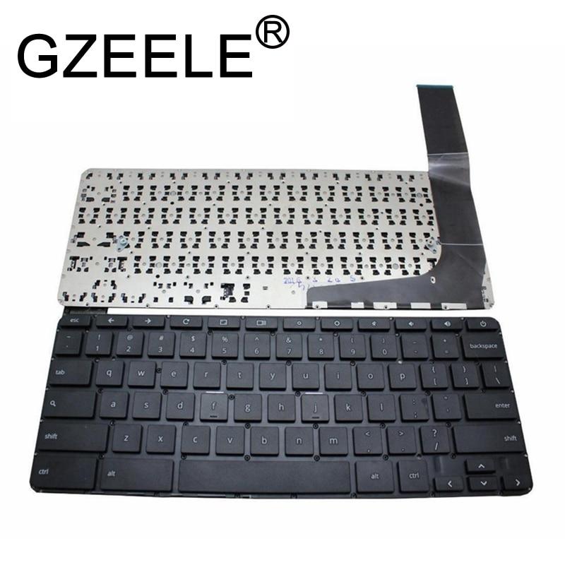 GZEELE English US Laptop Keyboard For HP Chromebook 14-X 14-X000 14-X010NR 14-X039WM 14-X040NR 14-X050NR 14-x007tu 14-x008tu