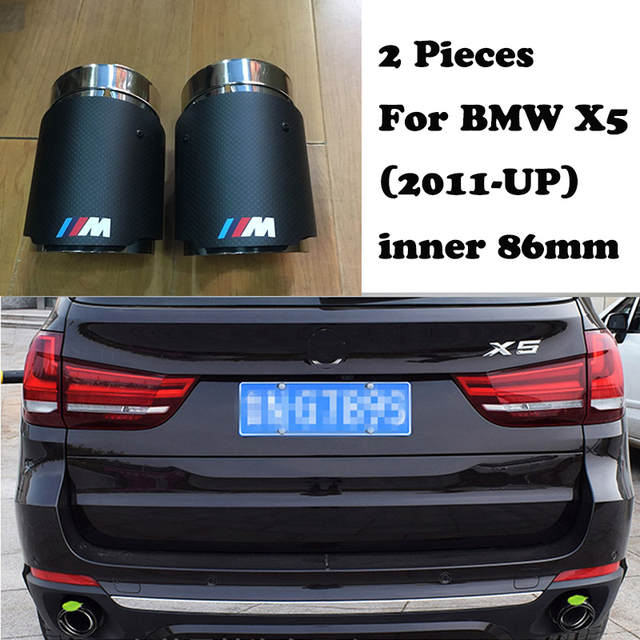 US $60 98  M performance Carbon Fiber Akrapovic Tips Car Exhaust Pipe For  BMW E90 E92 F30 X5 E70 X6 E71 X1 F48 Auto Accessories-in Mufflers from