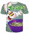 Alisister 3d Trips Aren't For Kids T-Shirt trippy vibrant Trix Rabbit Character psychedelic t shirt cartoon casual vibrant tops
