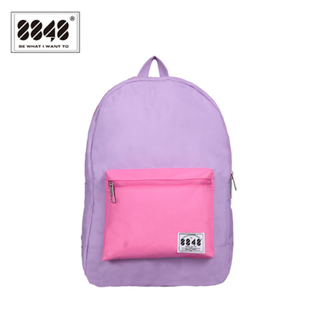 79c790a9012a Women Backpack Solid Purple Preppy Style School Student Backpacks Girl s  Backpack 16.7 L Capacity 15.6 Inch