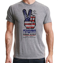 Drag Racing Americana Niagara Falls Vintage Peace Design 1970's Grey T-Shirt  Harajuku Tops Fashion Classic Unique free shipping gipsy kings niagara falls