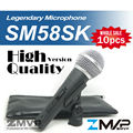 Free Shipping! 10pcs High Quality Version SM 58 58S SM58S SM58SK Dynamic Handheld Karaoke Wired Microphone with on/off Switch