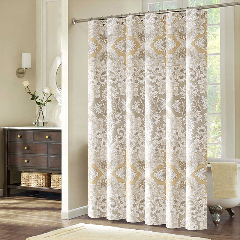 Elegant High End Bathroom Bath Curtain Waterproof Partition Thickening Door Shower In Curtains From Home