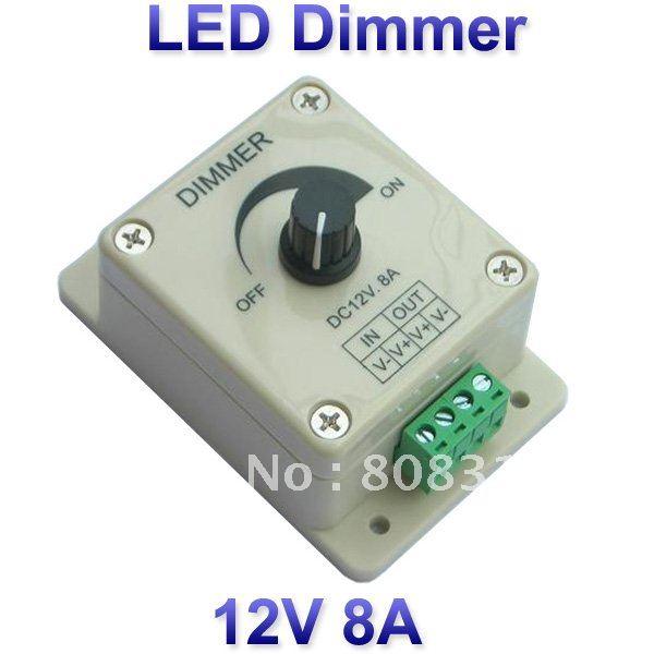 12v 8a 96w adjustable brightness controller led dimmer for 3528 5050