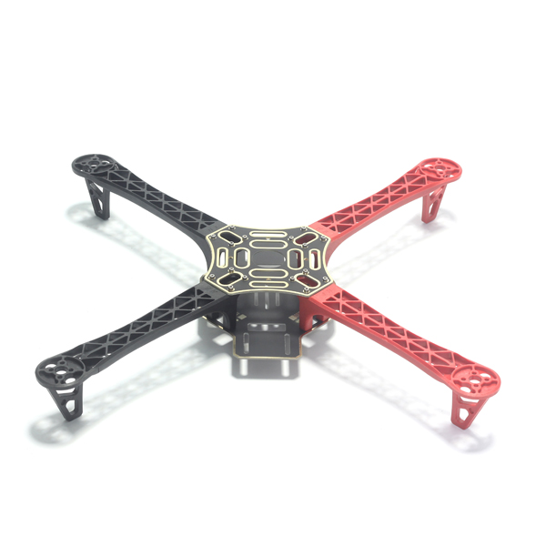 F450 Quadcopter Frame Kit Integrated PCB 4 axis Arm Part Red Black ...