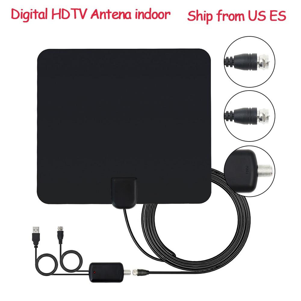 Lowest price Indoor TV Antenna HDTV Digital TV Signal Reception 50 Miles Range High Gain Amplifier For DVB-T DVB-T2 Sat Receiver