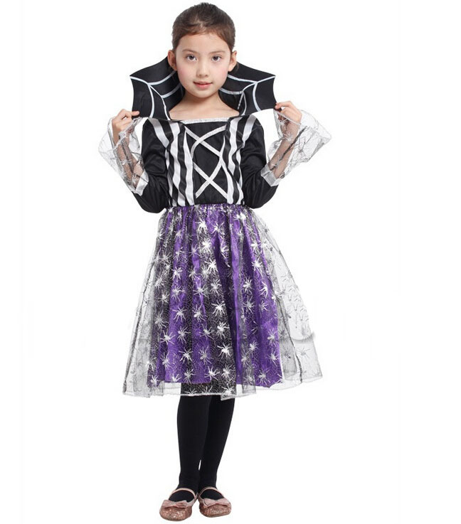 Radient Free Shipping!!purple Spider Witch Costume, Masquerade On Christmas Day, All Saints Party, Witch Stage Performance Clothing