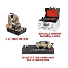 TBK-808 Automatic Bubble Removing Machine OCA Vacuum Laminating Machine+5 in1 Frame Separator machine+OCA film machine