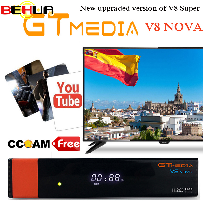 Gtmedia V8 Nova Built wifi DVB-S2 Freesat V8 Super Satellite TV Receiver gt media v8 nova receptor with europe clines for 1 year стоимость