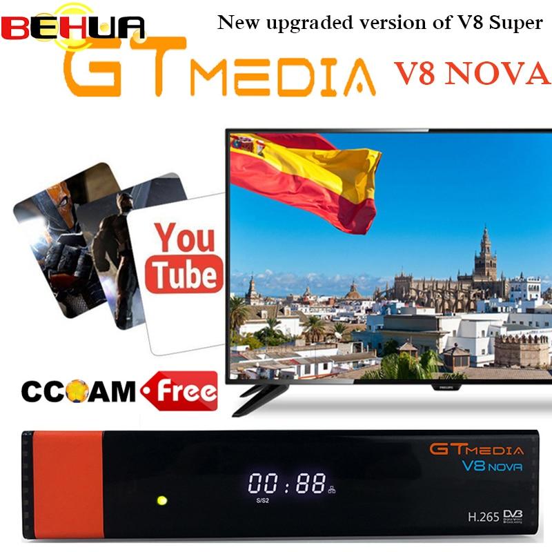 Gtmedia V8 Nova Built wifi DVB-S2 Freesat V8 Super Satellite TV Receiver gt media v8 nova receptor with europe clines for 1 year [genuine] freesat v8 super