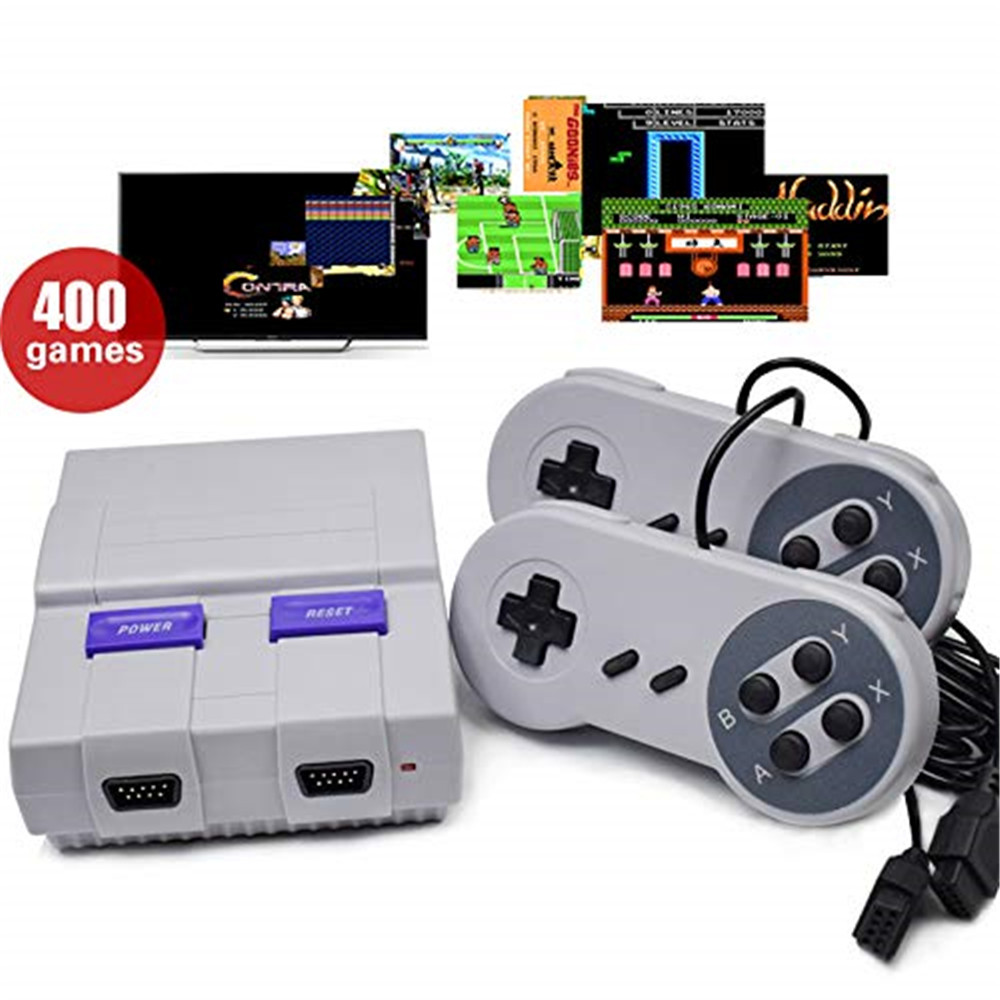 SUPER MINI SFC game console NES SFC New mini TV game console SFC built-in 400 European / US / Japanese version classic games image