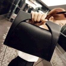 2016 neue Mode Luxus Frauen Handtasche Kette Umhängetasche Pu-leder Schwarz Berühmte Designer Einfache Stilvolle Frauen Umhängetasche