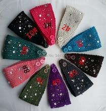 Оптовая продажа высококачественных алмазов классический женская мода зима вязание шерсть теплый повязка 30 шт./лот бесплатная доставка