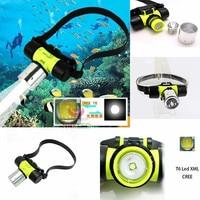 1800Lm XM-L CREE T6 LED Swimming diving Headlamp Waterproof underwater Headlight Dive Head Light flashlight Head torch