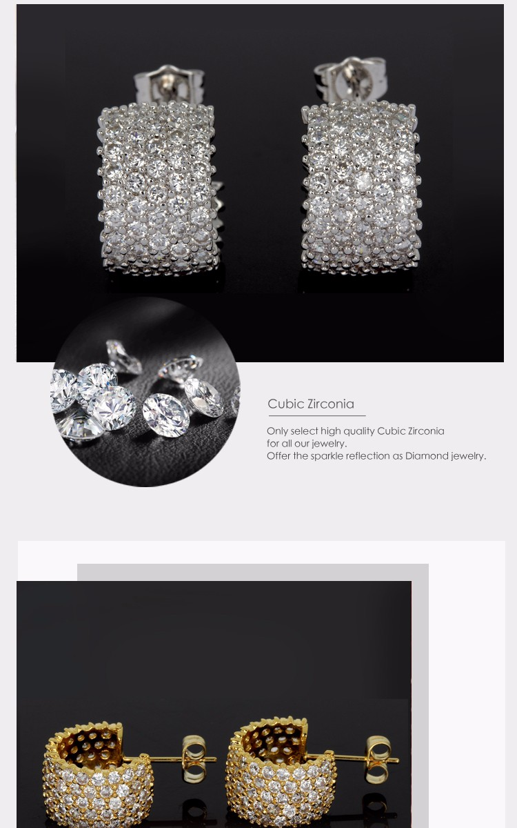 Easy wearing and Fashionable cc earrings