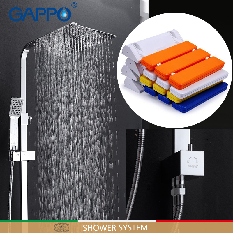 GAPPO Shower Faucets bath faucet mixer Bath tub taps Wall Mounted Shower Seats folding shower seat Shower System