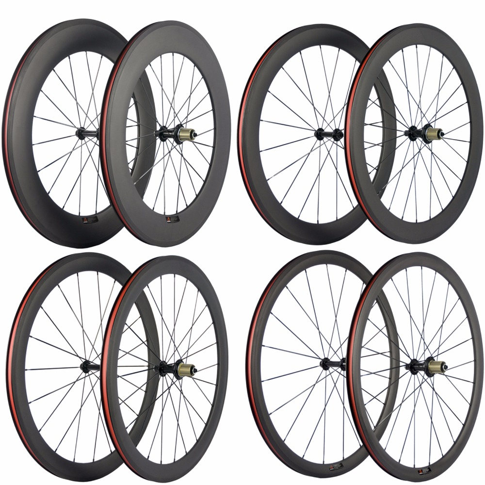 Ultra Light Carbon Bicycle Wheelset 38 50 60 88mm Carbon Clincher Wheels Tubular Road Bike Wheel