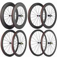 Ultra Licht Carbon Fahrrad Laufradsatz 38/50/60/88mm Carbon Klammer Räder Tubular Rennrad Rad basalt Bremsen Oberfläche
