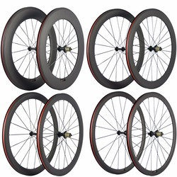 Ultra Light Carbon Bicycle Wheelset 38/50/60/88mm Carbon Clincher Wheels Tubular Road Bike Wheel Basalt Braking Surface
