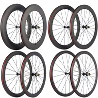 Ultra Light Carbon Bicycle Wheelset 38/50/60/88mm Carbon Clincher Wheels Tubular Road Bike Wheel Basalt Braking Surface