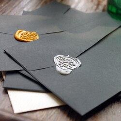 Free shipping black pearl envelopes personalized commercial envelope decoration envelope 50 pcs set wedding envelope wholesales.jpg 250x250