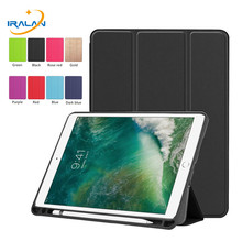 New PU Leather Flip Stand Smart Case For Apple iPad Air 3 10.5 2019 With Pencil