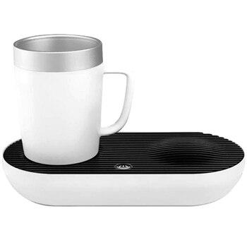Intelligent Quick Cooling Heating Cup Mat Heat Preservation Heater Pad Base Desktop Office Gift Portable-Eu Plug