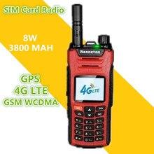 2019 Mới BỘ ĐÀM BAOFENG Sim Điện Thoại Máy Bộ Đàm 8 W 50 KM GPS GSM WCDMA 4G LTE CB Hàm đài phát thanh HF Thu Phát Woki Toki