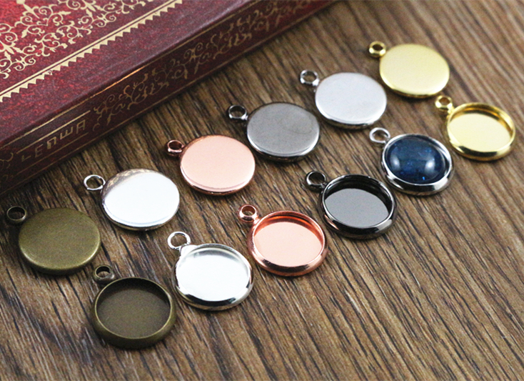 10mm 20pcs Brass Material 6 Colors Plated Cameo Setting Base Cabochon Setting Connector High Quality погремушка заводная умка котик