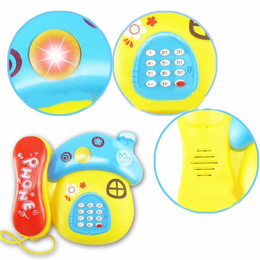 2017 Baby Kids Musical Educational Toys Cartoon Smile Phone Developmental Kids Toy Dropship Y724