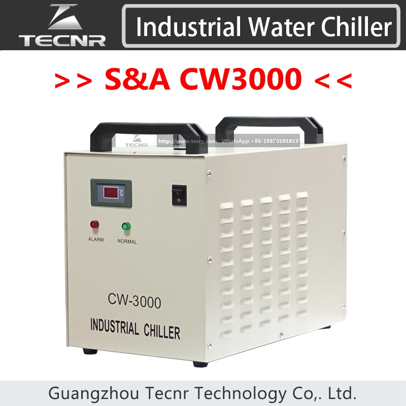 S&A CW3000 industry air water chiller CW3000AG for laser machine cooling 60W 80W laser tube cw3000 laser water chiller for 60w 80w co2 laser tube laser cutting machine