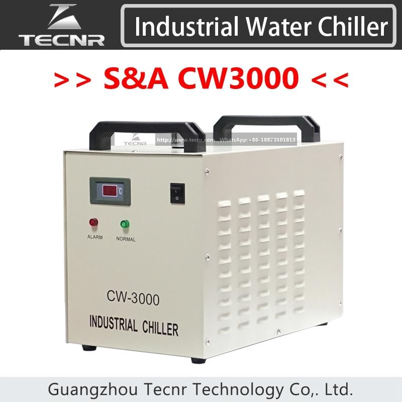 S&A CW3000 ipari vízhűtéses hűtő CW3000AG CW3000AG lézergép-hűtéshez 60W 80W lézercső