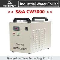 S & CW3000 промышленности вода холодная чиллер CW3000AG CW3000AG для лазерной машины охлаждения 60 Вт 80 Вт лазерной трубки