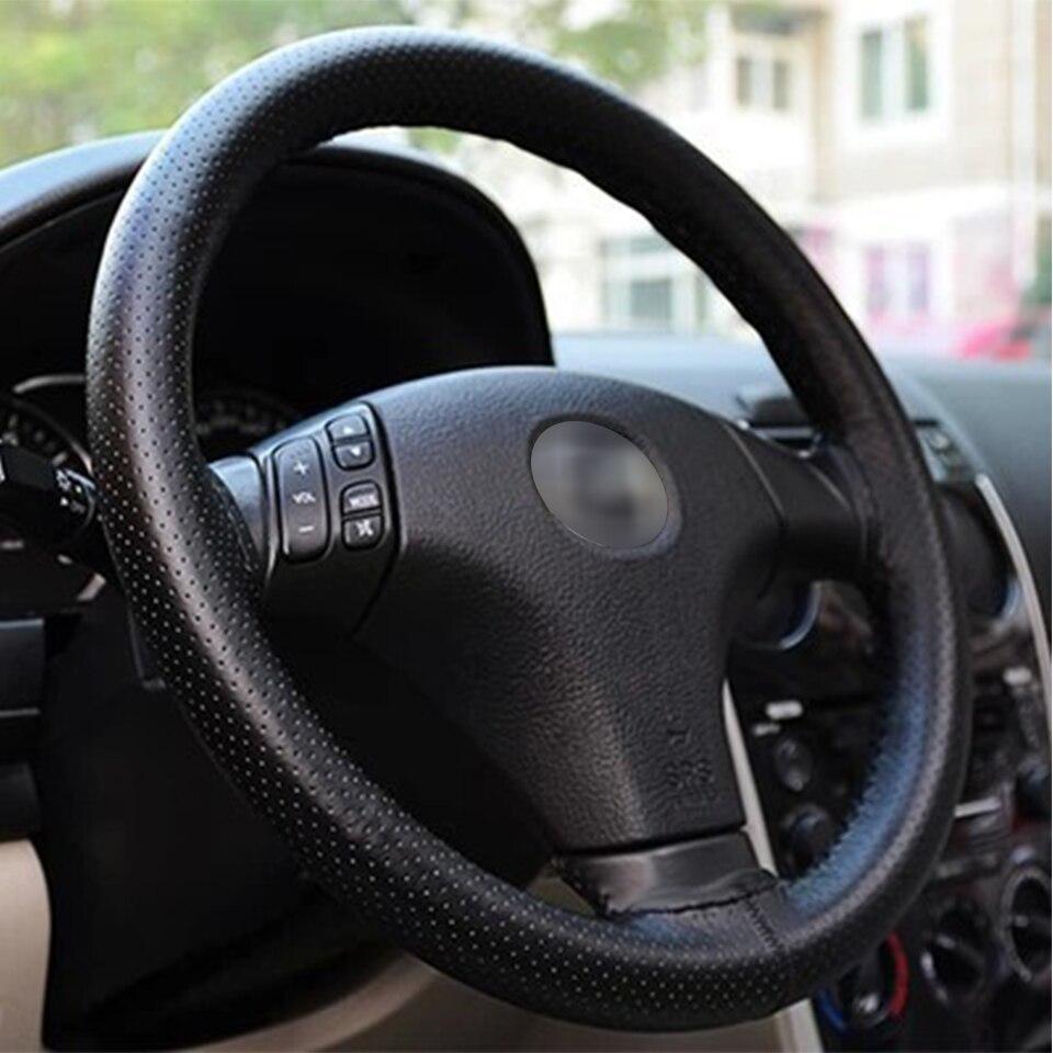 1 компл. Чехол рулевого колеса автомобиля кожа ручная строчка для Lada Vesta Granta Priora Suzuki SX4 Vitara аксессуары Hyundai Tucson