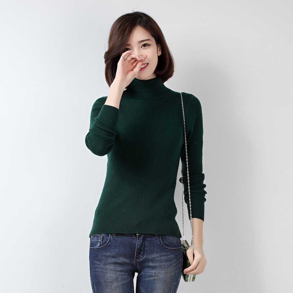 Adohon 2016 Fashion Spring Autumn Winter Cashmere Wool The Knitted Sweater Women 2015 Woman Turtleneck Long