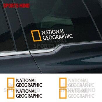 2 piezas, pegatina para coche NATIONAL GEOGRAPHIC, calcomanía para Mercedes, Honda, Volkswagen, Renault, Seat, Nissan, Skoda, accesorios