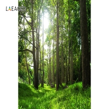 цена Laeacco Green Tree Forest Way Backdrop Nature Portrait Photography Background Customized Photographic Backdrops For Photo Studio