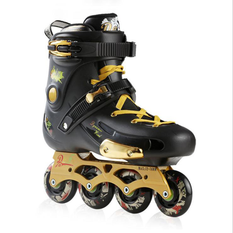 Inline Skates Professional Slalom Adult High Speed Sliding Free Skating Shoes 4 wheels Roller Skates Figure Skating Shoes