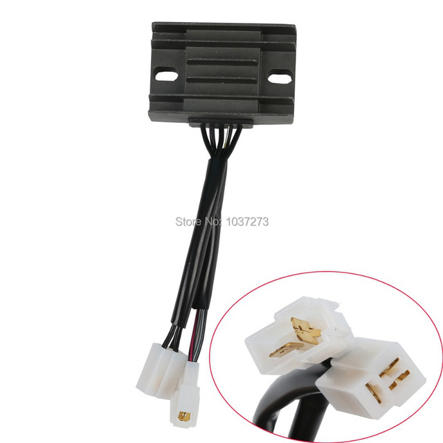 New 2 plugs Motorcycle 12V Voltage Regulator Rectifier For Suzuki AN125 5 wires