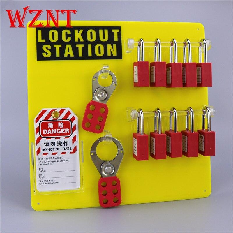 NT-K12 10 cadenas serrure ouverte avant fixé au mur de sécurité verrouillage des Stations de verrouillage, 10-lock board Lock-out Station