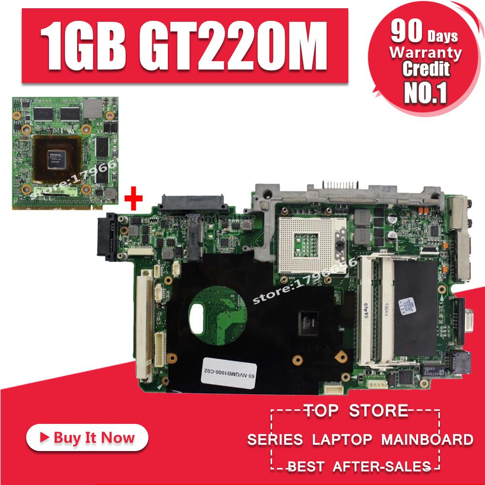 Laotop Motherboard+1GB GT220M Graphic Card VIDEO VGA For ASUS K51 K51IO K61IC K70IO X66IC K61IC K70IC X70IC Laptop Mainboard
