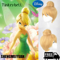 SHENGMEIYUAN 30cm short Blonde Cosplay Wig Fairy Tinker Bell Full hair Wig synthetic wigs anime Princess Tinkerbell Adult Size