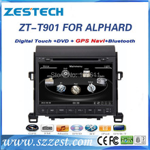ZESTECH High performance dual-core HD digital touch screen car dvd for Toyota ALPHARD car dvd with radio/RDS/3G+factory