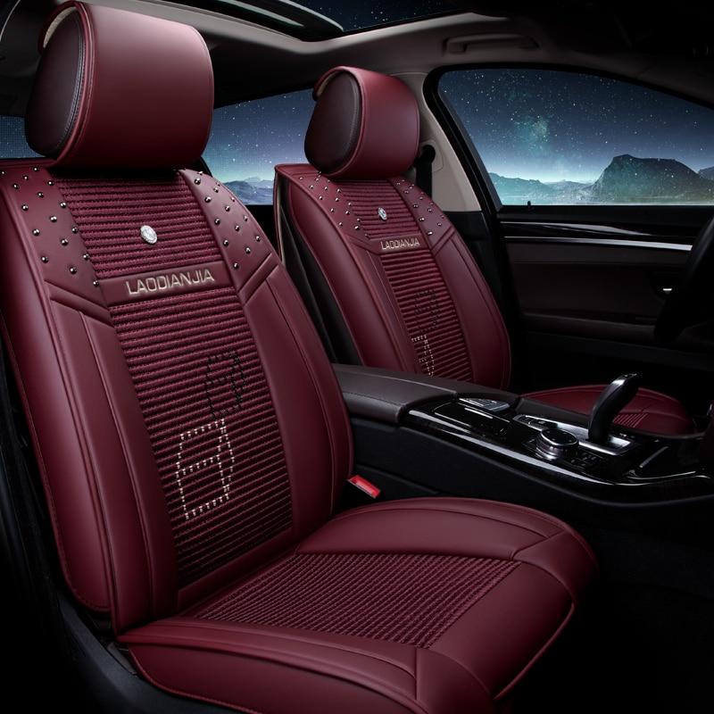 2018 neue 3D Sport Auto Sitzbezug Cube hochwertigem Leder Kissen, Car - Auto-Innenausstattung und Zubehör