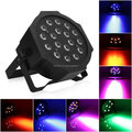 (1 pieces/lot)Led Par Light 18X3W RGB Led Slim Par Can Strobe Laser DMX DJ Disco Professional Stage Lights Sound Party Eq