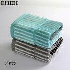EHEH 2-Pieces 35*76cm Adult Sports Towel 100% Cotton Striped Bathroom Face Towel Top Grade 2 Colors Large Hand Towels Set EH005