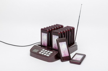 Mindewin Restaurant Queue Management System 433MHz Pager Wireless Coaster Paging 16 Calls Number in Fast Food & Coffee T