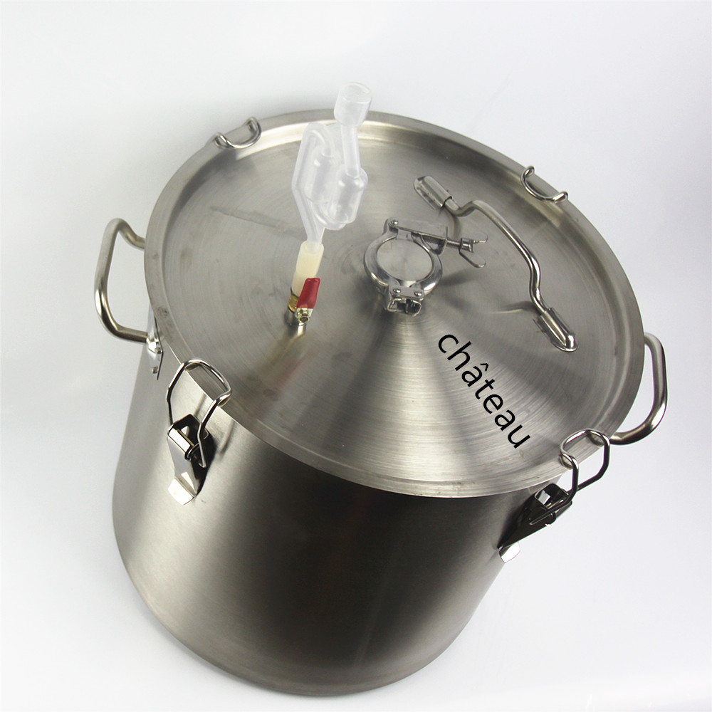 20 to 34 L stainless steel bucket fermentation tank for vodka moonshine beer wine cidre gin whisky wine beer  bucket ρολογια τοιχου κλασικα ξυλου